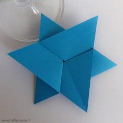 marque-place étoile en origami
