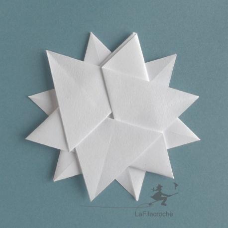 flocon étoilé blanc