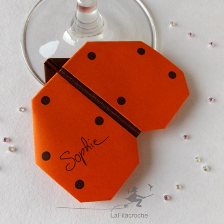 Marque-place Coccinelle origami