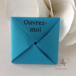 Carte Menko Merci en origami