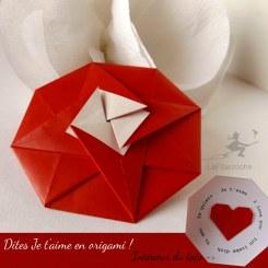 Carte origami tato je t'aime