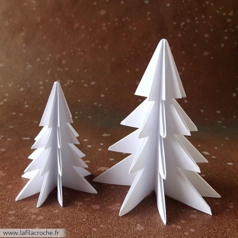 sapins de no l en origami d coration de table fait main. Black Bedroom Furniture Sets. Home Design Ideas
