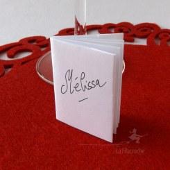 Marque-place mini livre origami