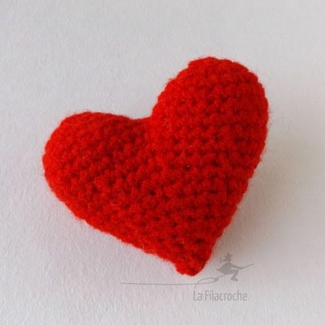 coeur amiguruumi au crochet