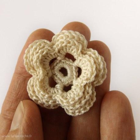 Fleur irlandaise au crochet