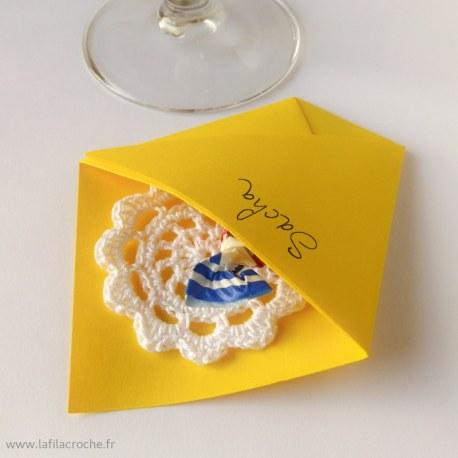Marque-place Pochette origami