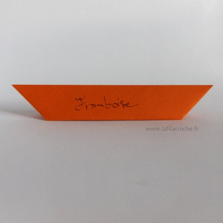 Marque-place origami sept plis