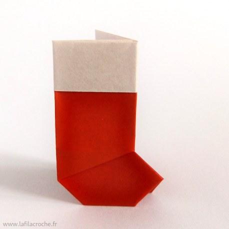Botte Noël en origami