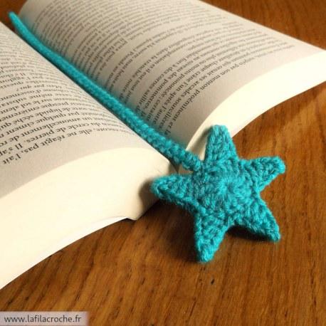Marque-page étoile au crochet