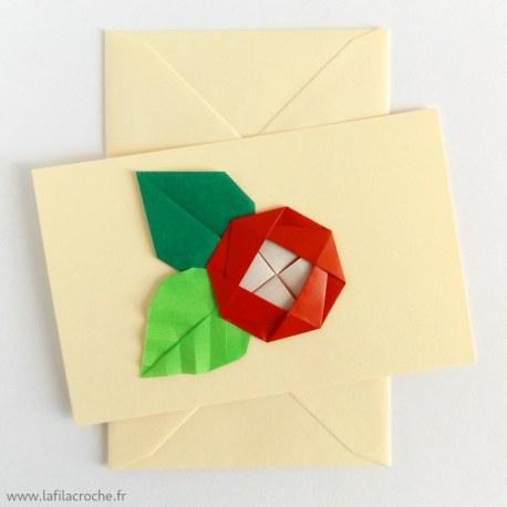 Carte camélia origami