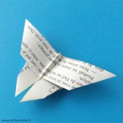 Papillon origami en papier de livre