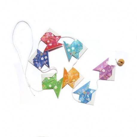 Guirlande de poissons en origami: Samouraï