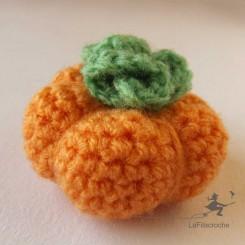 Mini citrouille au crochet