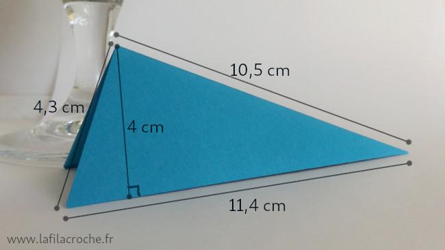 Dimensions du marque-place 4 plis