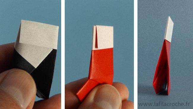 Verrouillage revers botte origami