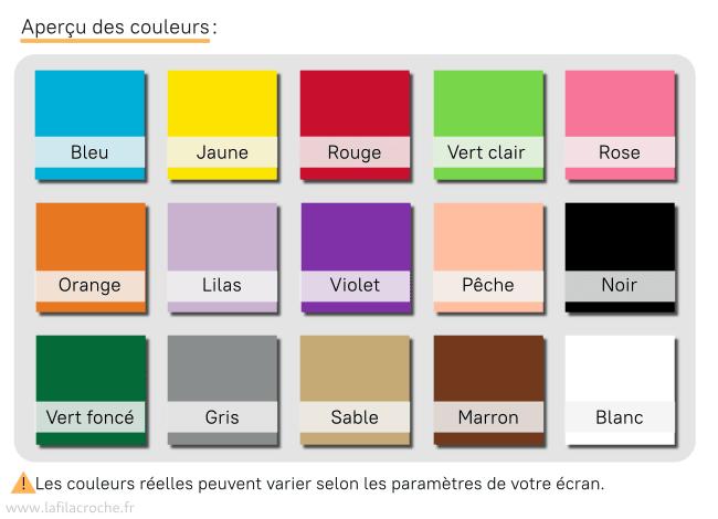 Aperçu des couleurs