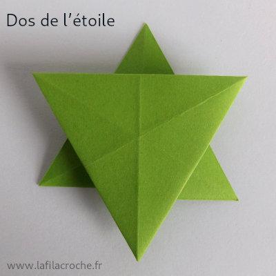 Dos de l'étoile origami