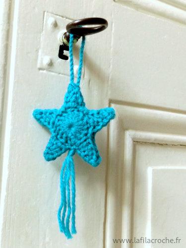 Bijou de maison étoile au crochet