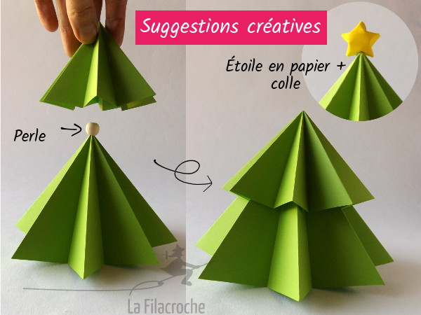 origami sapin cheap origami minisapin marqueplace christmas tree table mark senbazuru with. Black Bedroom Furniture Sets. Home Design Ideas