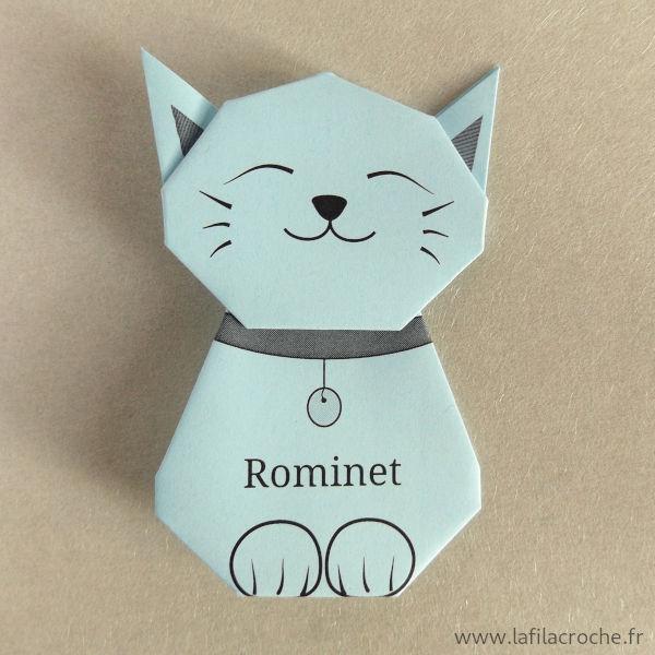 Marque-place chat avec prénom
