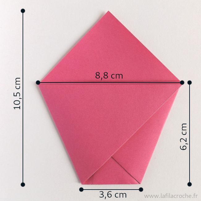 Dimensions du marque place pochette