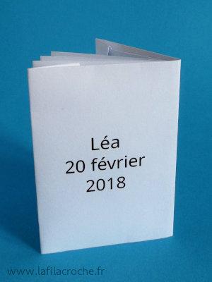 Verso marque-place livre imprimé